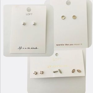 BUNDLE: NWT LOFT EARRINGS!!